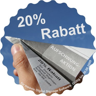 20% Rabatt auf meovis Digital Signage Software