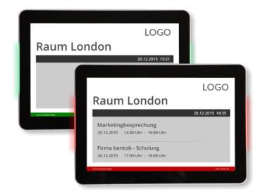 Elektronische T�rschilder mit Statussignalanzeige rot/gr�n