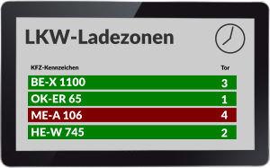 Digitales Aufrufsystem f�r Ladezonen, Arztpraxen, Banken, Krankenh�user etc.