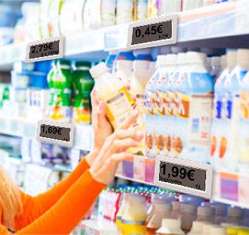 Elektronische Preisschilder f�r Supermarkt und Co.