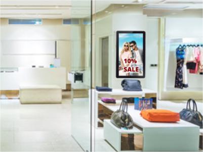 Interaktive Digital Signage Lösung im Einzelhandel