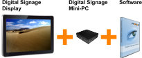Digital Signage Bundle (Display + Mini-PC)