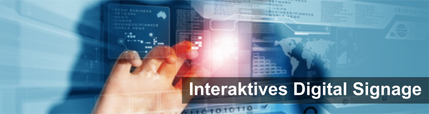 Interaktive Digital Signage Software