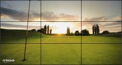 3x3 Videowand mit Ultra Narrow Bezel (sehr schmale Stegbreite)
