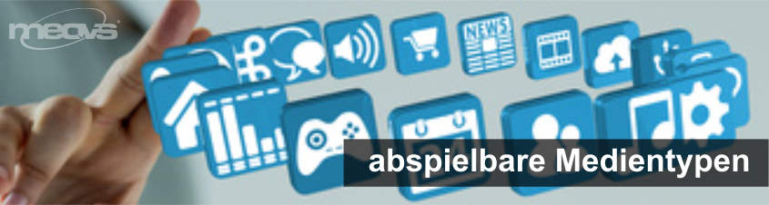 Digital Signage Software abspielbare Medientypen