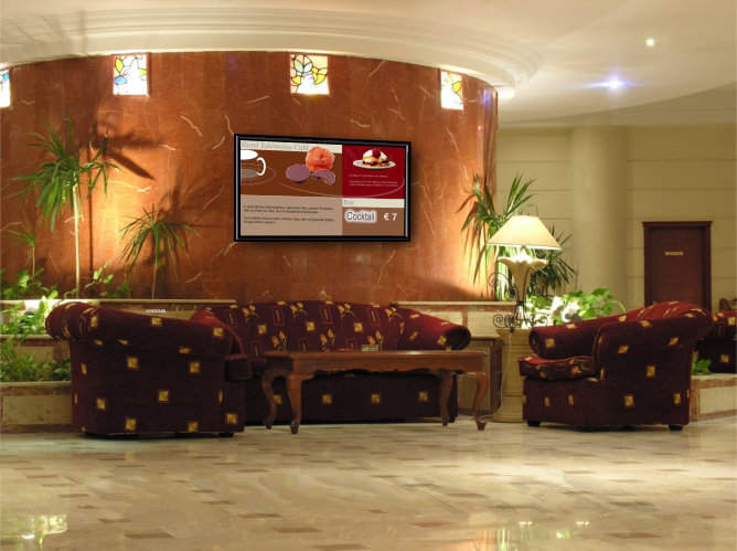 Hotel Foyer Display : Digital signage display