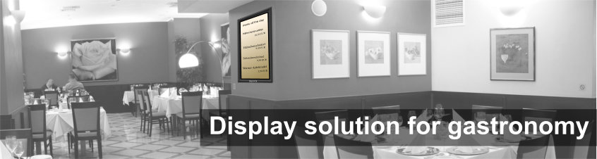 Restaurant / coffee shop / bar Display solution