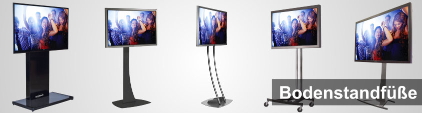 Bodenstandfüße für Digital Signage displays