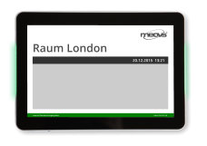 meovis EasyDoorSign digitales Türschild mit optionaler Status-Signalanzeige grün