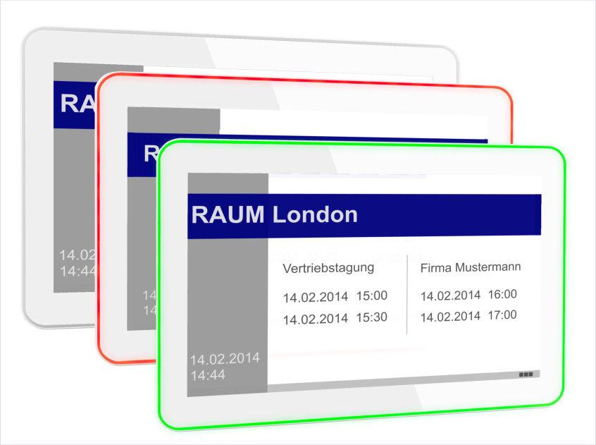 Produktneuheit: meovis EasyDoorSign digitales Türschild 10 Zoll mit weißem Gehäuse