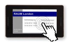 meovis EasyDoorSign digitales Türschild - Raum direkt Buchen über Touchscreen